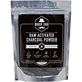 Body Cleansing Homemade Drinks - Activated Charcoal Powder by Moody Zook - Organic Charcoal Teeth Whitening Charcoal Toothpaste Powder Carbon Coco Powder - Natural Food Grade Face Mask Raw Charcoal Powder, Detox, Digestion, Skin Care