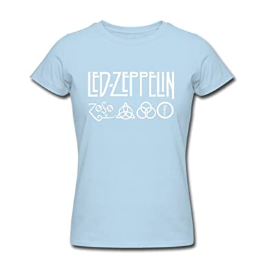 697b968629c81 Amazon.com  SumShirt Led Zeppelin A0229 Shirts Shirts Black Womens ...