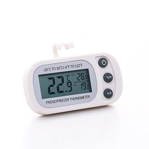 VEADK Termómetro Función de Registro de Temperatura máxima/mínima ...