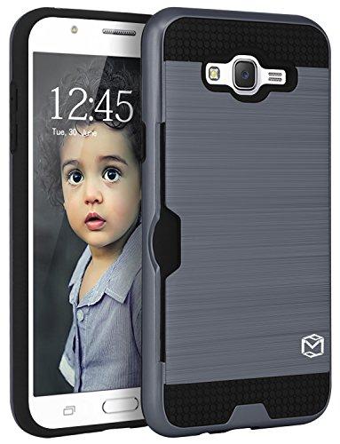 Slim Shockproof Case for Samsung Galaxy J7 (Grey) - 8