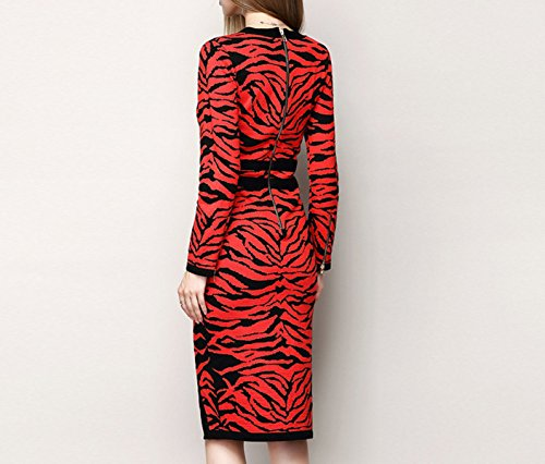 La Sra Vestido De Punto Del Leopardo Leopard