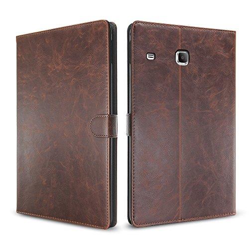 Samsung Galaxy Tab E 8.0 SM-T377 Folio Case,Slim Fit Premium PU Leather Folding Cover case for Samsung Galaxy Tab E 8.0 inch,Multi Angle Stand Magnetic Closure Smart Cover