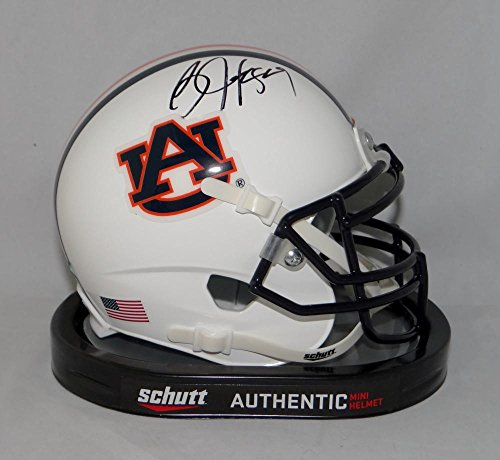 Bo Jackson Autographed Black Auburn Tigers Schutt Mini Helmet- JSA W Auth ()