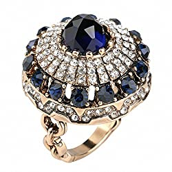 Antique Big Crystal Rings for Women
