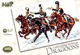 HaT Set 8012 Russian Dragoons - 12 figures and 12 horses in this 1/72 scale Plastic Toy Soldier set by Hat