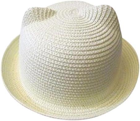 ❤️Amlaiworld Sombrero de Paja Playa Bebé niñas niño Gorro de Sol de Deporte al Aire Libre Verano para Unisex Niños gorrita (Blanco)