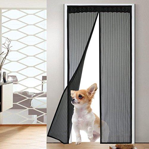 Fatefulness Door Frame Magnetic Mesh Bug Screen with Heav...