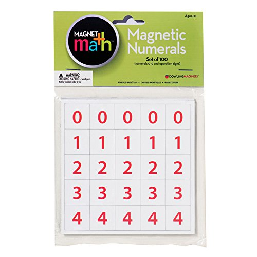 Dowling Magnets DO-MA13BN Numerals Magnet44; Pack of 6