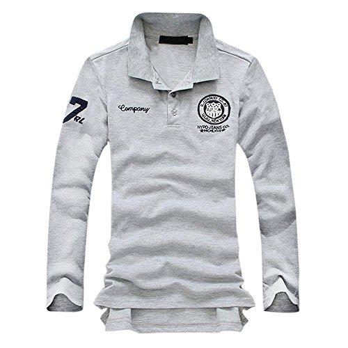 (フルールアンフェ) FleurUneffe ポロシャツ メンズ おしゃれ 長袖 プライベート スポーツ ゴルフウェア 刺繍 FU-6284