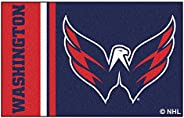 "FANMATS 19280 Washington Capitals Uniform Starter Rug, Team Color, 19"""