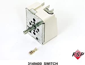 Whirlpool W3149400 Range Surface Element Control Switch Genuine Original Equipment Manufacturer (OEM) Part