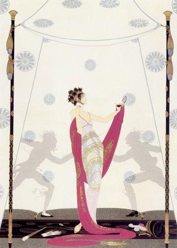 The Duel Big Art Deco Print by Erte