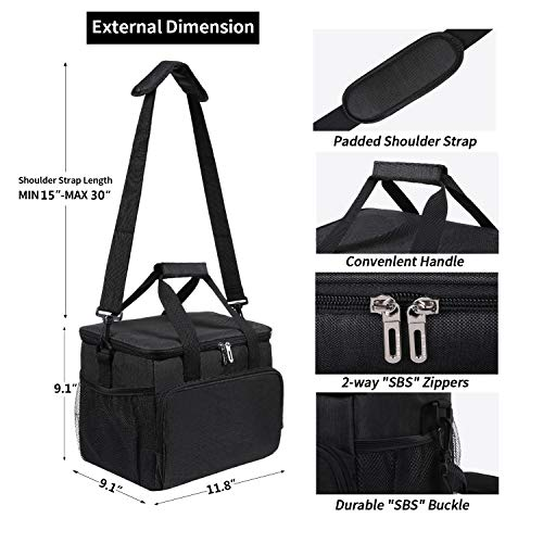 Durable Insulated Lunch Bag Large Cooler Tote Bag For Men Women Anemone Large