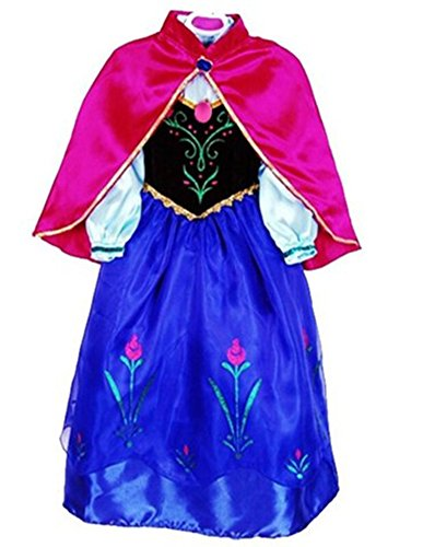 CXFashion Anna Coronation Party Dress Gown for Little Girls Toddler Infant (4T) (Frozen Toddler Costume)