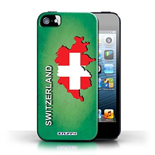 Kobalt® Imprimé Etui / Coque pour Apple iPhone 5/5S / Suisse/Swiss conception / Série Drapeau Pays