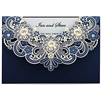 amazon com wishmade vintage laser cut wedding invitations cards