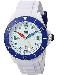 Quartz Plastic and Silicone Casual Watch, Color:White (Model: 40NINE02/FUN10)