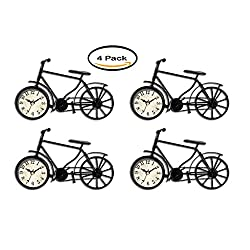 PACK OF 4 - Better Homes and Gardens Metal Bicycle Table Clock