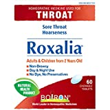 Boiron Roxalia, 60 tablets, Homeopathic Medicine for sore throats and hoarseness