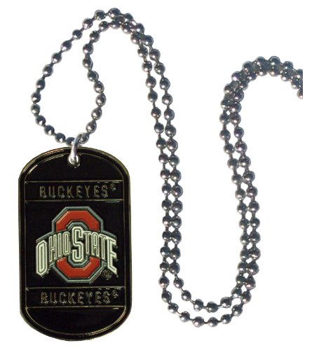 NCAA Ohio State Buckeyes 36-Inch Ball Chain Necklace with Li