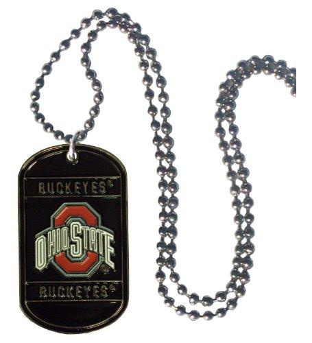 - Simran NCAA Ohio State Buckeyes Dog Tag Necklace