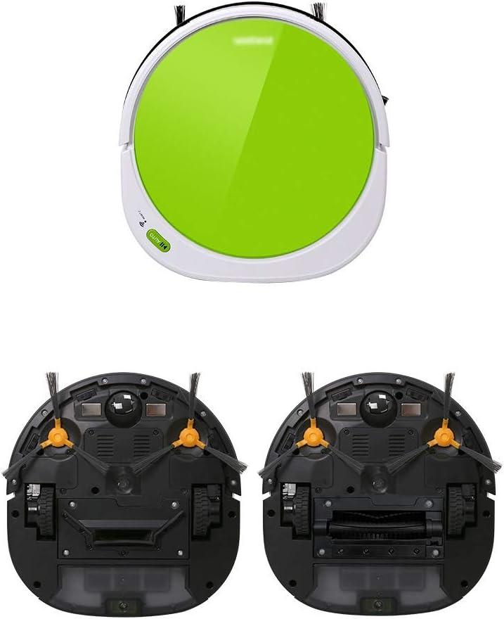 Aspirateur robot intelligent anti-chute filtre capteur, HEPA, Convient for animaux cheveux, plancher dur et court Pile tapis (Color : Green) Green