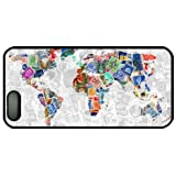 Stamp Design World Map Theme Iphone 5 5S Case