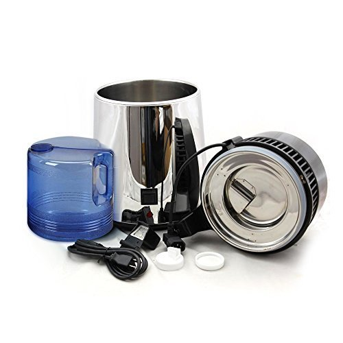 USA Shipping, Countertop Pure Water Distiller, Filter All Stainless Steel, Internal Container 4L Purifier by Smile Dental
