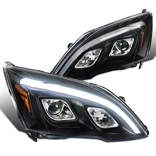 For Honda CRV CR-V JDM Black Clear LED DRL Projector Headlights Left+Right