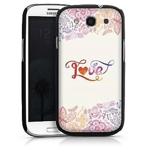 Carcasa Design Funda para Samsung Galaxy S3 i9300 / LTE i9305 HardCase black - The Colours Of Love