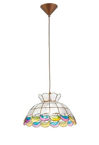 Lámpara de techo de nácar, con pendel, de 35 cm de diámetro ...