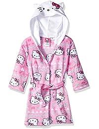 Big Girls' Snowflake Hooded Robe