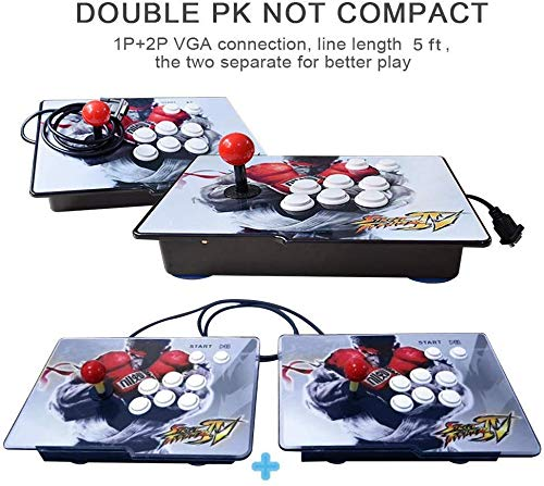 XFUNY Arcade Game Console 1080P 3D & 2D Games 2350 in 1 Pandora's Box 2 Players Arcade Machine with Arcade Joystick Support Expand 6000+ Games for TV / Laptop / PC / PS4 by XFUNY (Image #4)