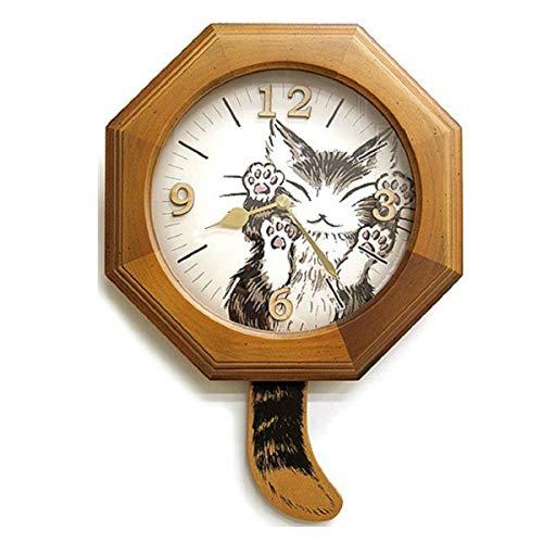 ダヤン 時計 しっぽ振り子時計 にゃんキュー   B07C947XYQ