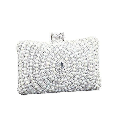 SSMK silver pour Pochette Evening femme Bag nxgnFrXZA