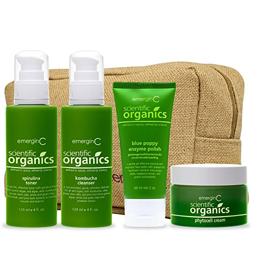 emerginC Scientific Organics - Natural Skin Care Trial/Travel Set by EmerginC