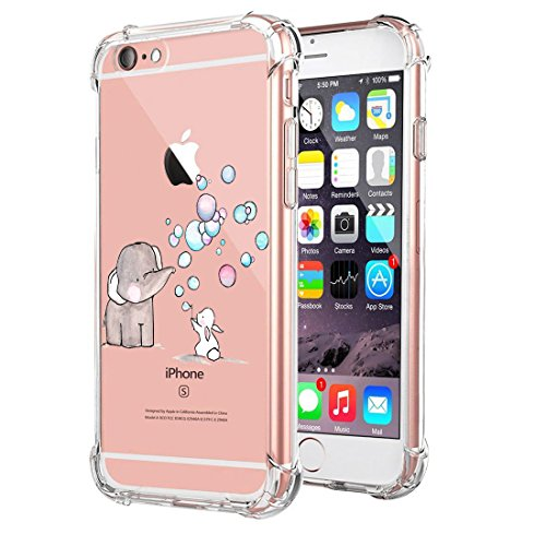 Price comparison product image Beryerbi iPhone 6/6s Plus Case Ultra Skinny Clear Soft TPU Air Cushion Corners Protective Cover (iPhone 6/6s Plus, 2)