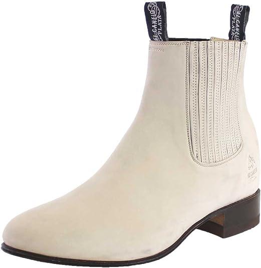 EL CANELO Charro Ankle Boots for Women Leather Nobuck Botin Charro para DAMA