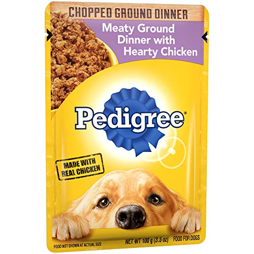 PEDIGREE Chopped Meaty Ground Dinner With Hearty Chicken Adult Wet Dog Food, (16) 3.5 oz. Pouches
