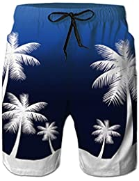 5e4d8987ee Casual Mens Swim Trunks Quick Dry Printed Beach Shorts Summer Boardshorts  with Mesh Lining