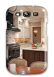 diy phone caseAwesome Case Cover/galaxy S3 Defender Case Cover(white Traditional Kitchen With Black Metal Oven And Hood)diy phone case