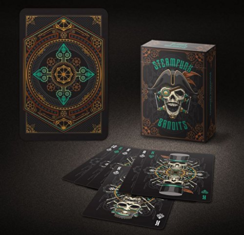 Coloured Steampunk Bandits Playing Cards Original Bicycle Branded Single Print Run 1500 Decks VERY RARE by Bicycle
