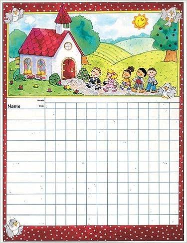 Sunday school attendance chart carson dellosa publishing