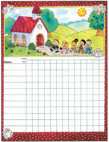 Sunday School Attendance Chart: Carson-Dellosa Publishing