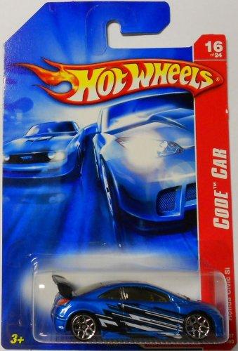 Blue HONDA CIVIC SI Hot Wheels 2007 Code Car 1:64 Scale Collectible Die Cast Car Model #100
