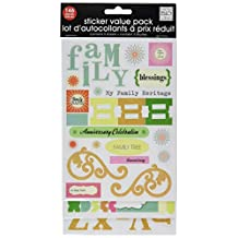me & my BIG ideas Glitter Sticker Flip Value Pack, Family