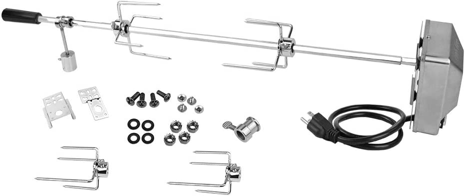 onlyfire 6012 Universal Grill Replacement Rotisserie Kit for Spit Rods- 45'' X 1/2'' Hexagon Spit Rod/Electric Motor(Do Not Fit Weber Gas Grill) : Garden & Outdoor