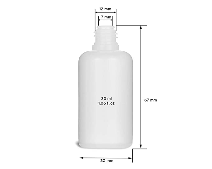 5 Botellas de recarga con aguja Octopus de 30 ml, botella para líquidos electrónicos para shishas electrónicas y cigarrillos electrónicos, aceites, ...