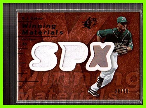 (2007 SPx Winning Materials Dual Bronze #BU B.J. Upton Melvin DUAL GAME USED JERSEY TAMPA BAY DEVIL RAYS Serial #20/25)