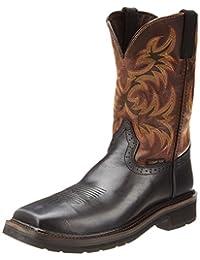 Justin Original Work Boots Men's Stampede Square Toe Composite Work Boot